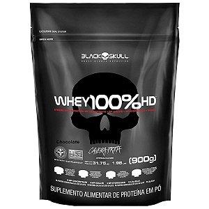 Refil Whey 100% HD Black Skull - 900g
