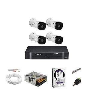 4 Câmeras Intelbras Vhl 1120 B +HD e DVR Mhdx 1104