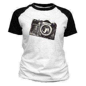 Camiseta feminina Câmera Fotográfica