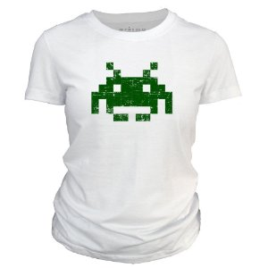 Camiseta feminina Space Invaders