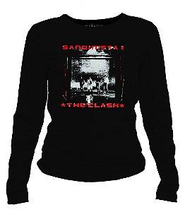Camiseta manga longa feminina - The Clash - Sandinista.