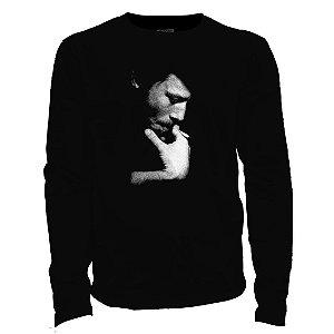 Camiseta manga longa - Tom Waits.