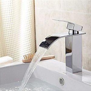 Torneira Cascata Baixa Para Banheiro Misturador Monocomando
