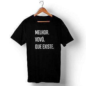 Camiseta Unissex Melhor Vovó Que Existe Preta