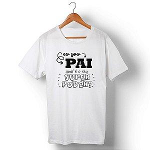 Camiseta Unissex Pai Herói Branca