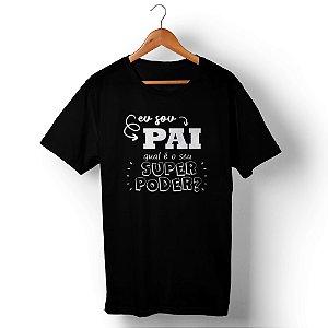 Camiseta Unissex Pai Herói Preta