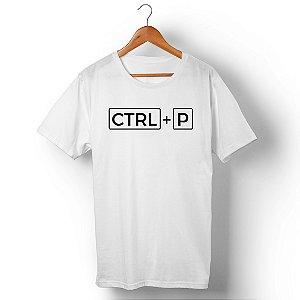 Camiseta Unissex Ctrl+P Branca