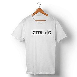Camiseta Unissex Ctrl+C Branca