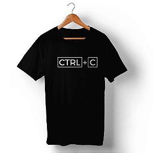 Camiseta Unissex Ctrl+C Preta