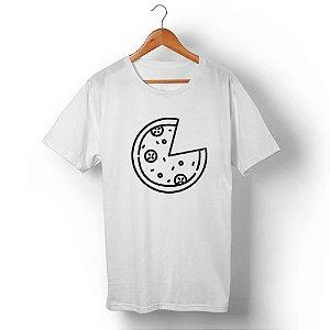 Camiseta Unissex Pizza Branca