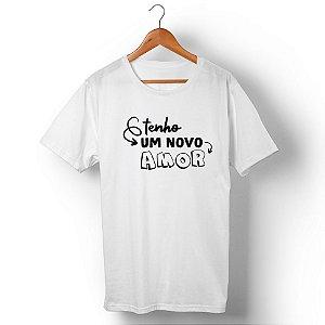 Camiseta Unissex Tenho um Novo Amor Branca