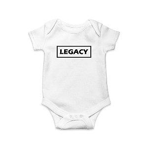 Body ou Camisetinha Infantil Legacy Quadrado Branco