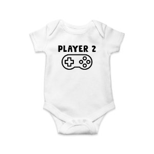Body ou Camisetinha Infantil Player 2 Branco