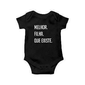 Body ou Camisetinha Infantil Melhor Filha Preto