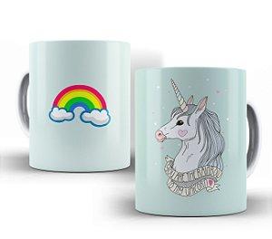 Caneca Rainbow to my Unicorn Branca