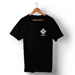 Camiseta Unissex Mestre Ninja Frente e Costas Preta