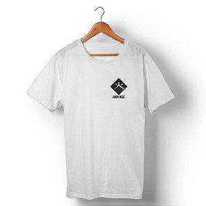 Camiseta Unissex Mestre Ninja Frente e Costas Branca