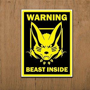 Placa Decorativa Beast Inside