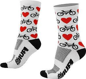 Meia HUPI Bike LT para pés menores 34-38