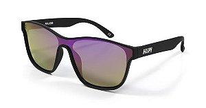Óculos de Sol HUPI Major Preto - Lente Roxo Espelhado