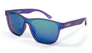 Óculos de Sol HUPI Major Roxo - Lente Verde Espelhado