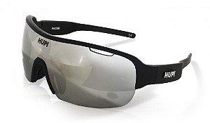 Óculos de Sol HUPI Pacer Preto Lente Cinza Espelhada