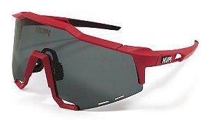 Óculos de Sol HUPI Stelvio Vermelho e Preto - Lente Preto