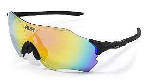 Óculos de Sol HUPI Fuego Preto - Lente Rosa Espelhado