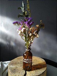Garrafa Floral - Gratidão muda tudo