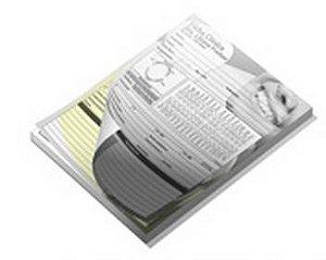 5.000 Folhas / 50 Blocos - 148x210mm Sulfite - 75g - 1x0 50x2 Vias - Impressão Preto - 2º Via Amarela  Produção em 5 dias úteis