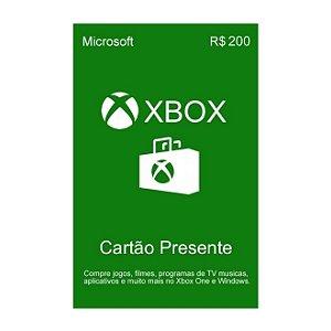 Xbox LIVE Gift Card R$200,00