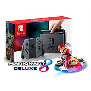 Nintendo Switch (Joy-Con cinza) + Mario Kart 8 Deluxe