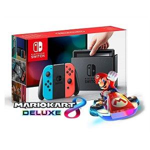 Nintendo Switch (Joy-Con Neon) + Mario Kart 8 Deluxe