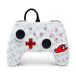 Switch Controle Com Fio Super Mario Odyssey Branco Power A