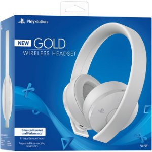 PS4 Headset Gold Wireless 7.1 Novo Modelo Branco