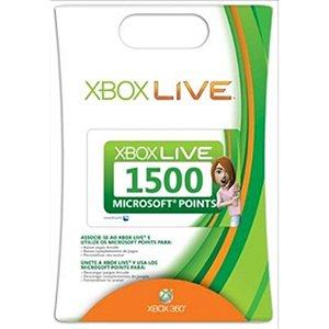 Xbox 360 1500 Microsoft Points para Xbox Live Gold Brasil [ Nacional ]
