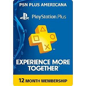 Playstation PSN PLUS [Inscrição 12 meses AMERICANA]