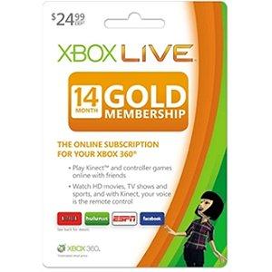 Xbox 360 14 Meses Assinatura Xbox Live Gold
