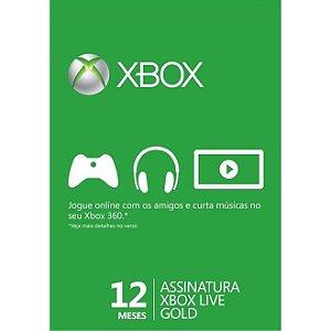 12 Meses Assinatura Xbox Live Gold