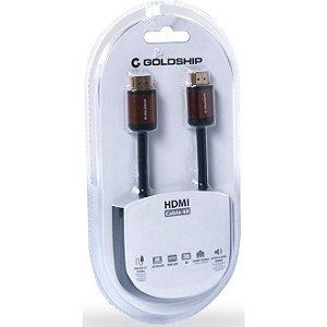 Cabo HDMI Banhado A Ouro 4k Premium 2.0v - Goldship Cb-1152