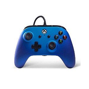 Xbox One Controle Com Fio Sapphire Fade Power A
