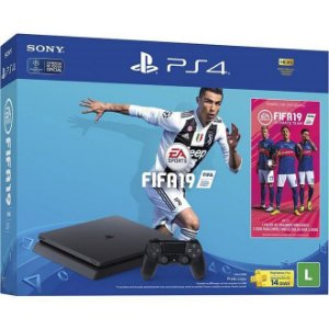 PlayStation 4 Slim 500 GB com FIFA 19 com Pack Ultimate Team