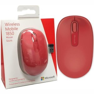 Mouse Wireless 1850 Vermelho