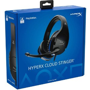 Headset Gamer HyperX Cloud Stinger PS4, Preto/Azul - HX-HSCSS-BK/AM