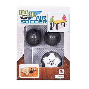 Flat Ball Air Soccer de Mesa com 2 Grades de Gol e 2 Rebatedores Alimentação por 2 Pilhas AAA Indicado para +6 Anos Multikids - BR373.