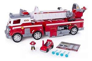 Veículo e Mini Figura Caminhão de Bombeiro Resgate Extremo Patrulha Canina Sunny