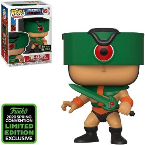 Funko Pop Tv Masters Of The Universe Tri-Klops *Comic Con Emerald 951