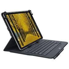 """Capa Com Teclado Logitech Universal Folio Com Conexão Bluetooth 3.0 Para Tablets Android, Apple Ou Windows De 9-10"""""""