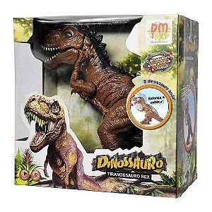 Boneco Dinossauro Som E Luz T-Rex - DM Toys
