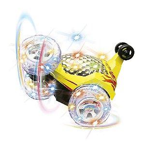 Carro Controle Remoto Crazy Amarelo - DM Toys